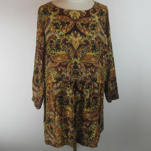 J Jill Tunic Top XL Tall Paisley Print